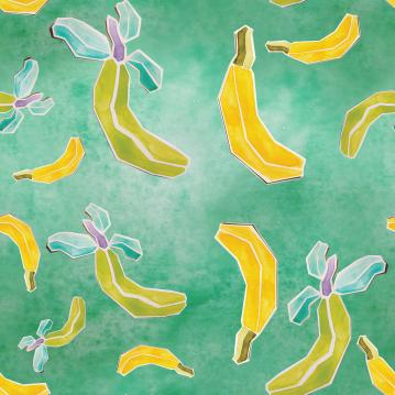 Final Banana High res- Watercolor