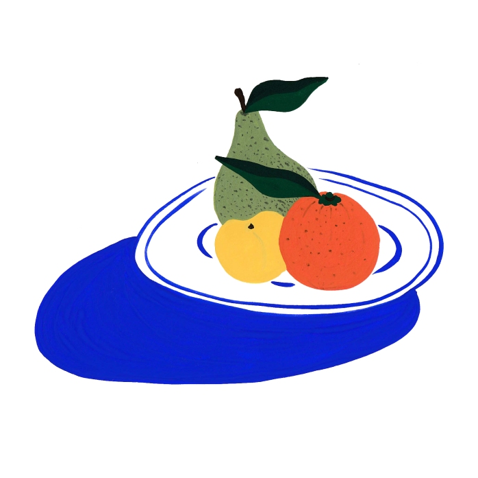 fruit plate square B10C20