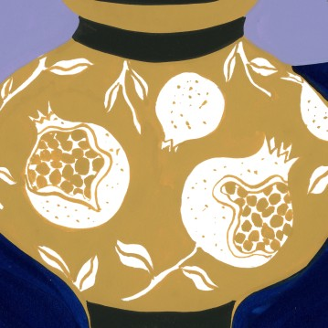 Pomegranate Vase_detail