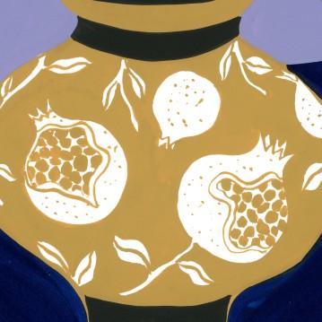 Pomegranate Vase_detail
