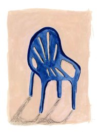 Plastic chair in the sun